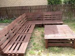 garden furniture slanted back corner unit pallet furniture plans