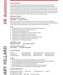 Sample Human Resource Resume by Capricious Sample Human Resources Resume 11 Hr Assistant Cv