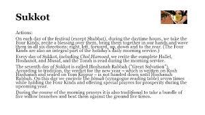 prayers for sukkot the calendar ppt