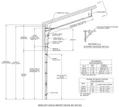 Overhead Door Track Marvelous Overhead Door Track Details R53 In Stunning Home