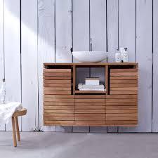 Wooden Vanity Units For Bathroom Tikamoon Solid Teak Washstand Sink Unit Vanity Cabinet Unit Wooden