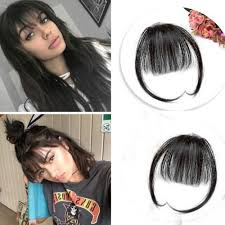 clip on bangs ugeat air fringe bangs clip in human hair extensions black