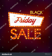 black friday sale retro lights sign stock vector 324286196