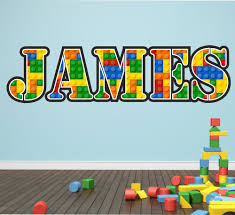 personalised lego name wall art sticker decal graphic decal personalised lego name wall art sticker decal graphic decal bedroom animal