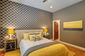 Cheerful Sophistication  Elegant Gray And Yellow Bedrooms - Grey and yellow bedroom designs