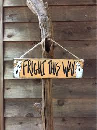 addams family halloween decorations fright this way wood sign halloween decorations gift for the