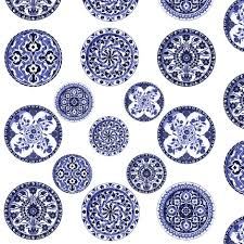 blue white china plates 2 inch plate fabric