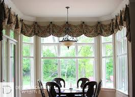 Window Treatments Dining Room Bay Window Coverings Treatments For Bay Windows Budget Blinds