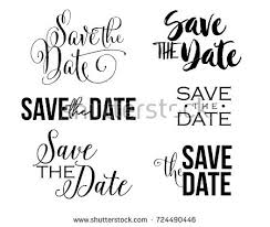 save the date designs save date word text design stock vector 724490446