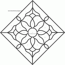 16 pics of mosaic design coloring pages printable stained glass