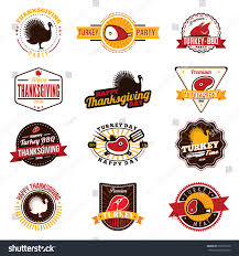 happy thanksgiving day logo signs colorful stock vector 516090178