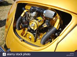 yellow volkswagen beetle royalty free engine detail of classic vw beetle at club event budel netherlands