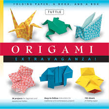 origami extravaganza folding paper a book and a box tuttle