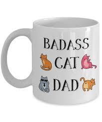 badass cat dad funny coffee mug cat dad gifts u2013 ransalex