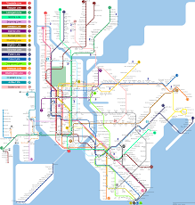 Brooklyn Subway Map by Fantasy Map No Interlining New York City Subway Nyc Transit