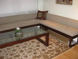 18 long bench for living room beautiful modern furniture tan