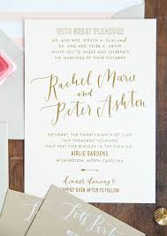 calligraphy invitations gold foil and calligraphy wedding invitations