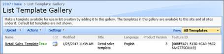 manage list templates sharepoint
