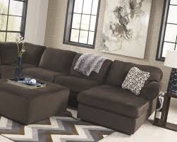 Ashley Furniture 3 Piece Sectional Jessa Place Chocolate 39804 3 Pc Sectional