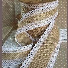 jute ribbon hessian jute ribbon with white lace edge bridal wedding