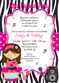 front of invitation spa birthday party pinterest spa party