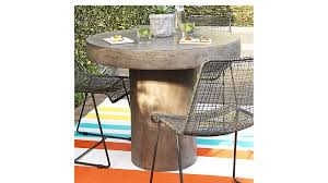 Cb2 Patio Furniture by Fuze Grey Outdoor Indoor Bistro Table Cb2