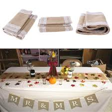 burlap christmas table runner vintage burlap lace table runners sack bags natural jute for country