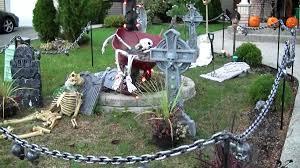 cool halloween garden decor cemetery ornament spooky skeleton