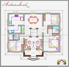 three bedrooms in 1200 square feet kerala house plan house