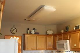 Kitchen Fluorescent Light Fittings Home Lighting Replace Fluorescent Light Fixture In Kitchen