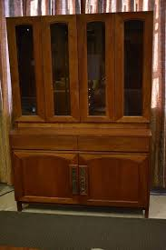2 Piece China Cabinet Two Piece Teak China Cabinet Designed By John Keal For Brown