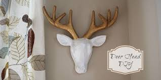 Home Interior Deer Picture by Faux Deer Head Diy U2014 Nest Home Interiors