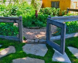 Simple Garden Fence Ideas Exterior Design Eclectic Landscape Herb Garden Wood And Wire
