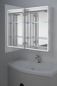 ambient bathroom led mirror cabinet with sensor u0026 internal shaver