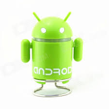 android mp3 pzcd bl 02 android robot style rechargeable mp3 player mini