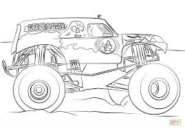 monster truck color page coloring pages online 308