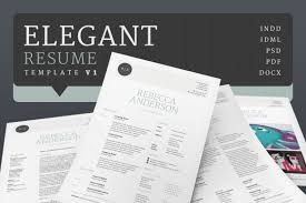 Elegant Resume Templates Elegant Resume Cv V1 On Behance