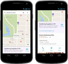 map search directions maps places ads in search results on ios and android the
