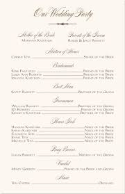 how to write a wedding program beautiful printable wedding program templates gallery styles