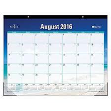 desk pad calendar 2017 blue sky monthly desk pad calendar 22 x 17 endless summer july 2016