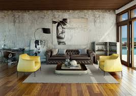 contemporary living room decorating ideas with classy twins yellow