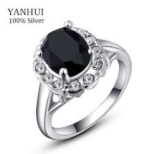 Wedding Rings For Women by Yanhui Luxury White Gold Filled Wedding Rings For Women 3 Carat