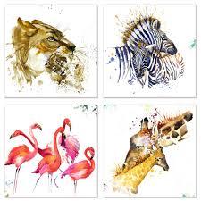 Giraffe Home Decor by Amazon Com Visual Art Decor Animals Canvas Wall Art Flamingo