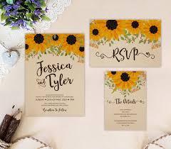 sunflower wedding invitations sunflower wedding invitations sunflower wedding