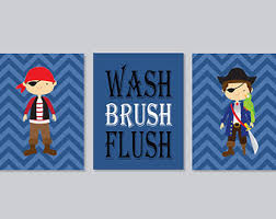 Kids Pirate Bathroom - pirate bathroom art etsy
