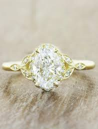 engagement rings diamond rachael oval diamond gold engagement ring ken design