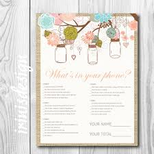 what u0027s in your phone bridal shower game mason jars