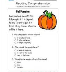reading for kindergarten with comprehension questions
