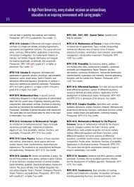 undergraduate bulletin 2016 2017 by high point university issuu