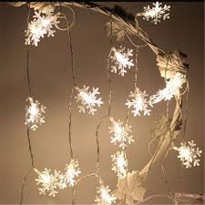 snowflake string of lights 3m 20 led christmas tree snowflake string fairy lights new year s